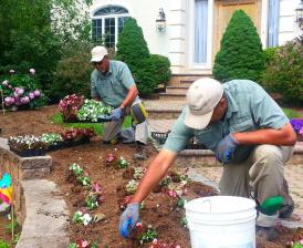 Claudes Garden workers 3